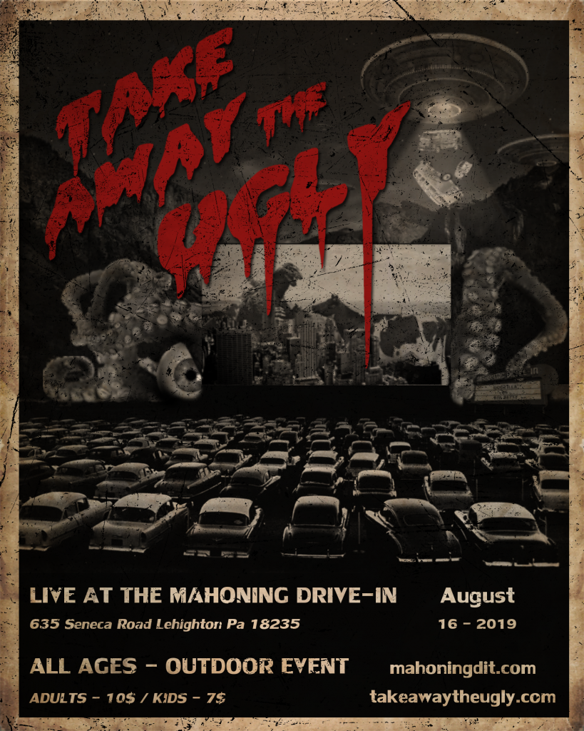 Mahoning Drive-In - Aug 16th 2019 - Fan Made Flyer (Creepy)